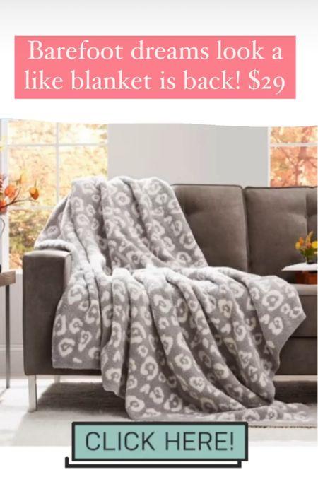 Barefoot dreams look a like blanket is back! Would make the perfect gift #home #livingroom #giftsforher #motherinlawgifts   #LTKhome #LTKsalealert #LTKGiftGuide