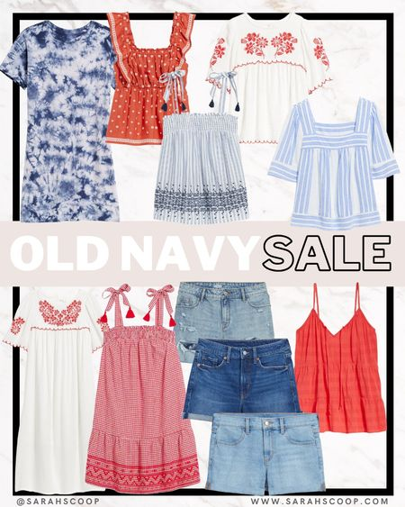 Independence day is on its way! Stay festive while stylish this holiday at Old Navy 🎆 Show your red, white and blue while its on sale!!  #oldnavy #4thjuly #independenceday #holiday #seasonal #fit #style #sale  #LTKfit #LTKfamily #LTKstyletip