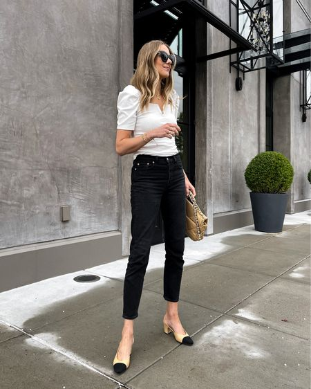 Love this too from Amazon fashion (wearing a small) comes in more colors too! Black jeans size up. Shoes are Chanel linked similar #falloutfits  #LTKunder50 #LTKunder100 #LTKstyletip