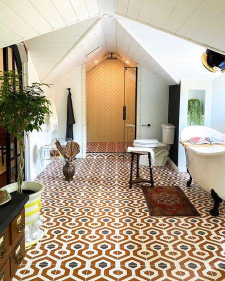 Shop my attic bathroom! http://liketk.it/3cBPX #liketkit @liketoknow.it #LTKhome #LTKfamily #LTKstyletip @liketoknow.it.home Shop your screenshot of this pic with the LIKEtoKNOW.it shopping app