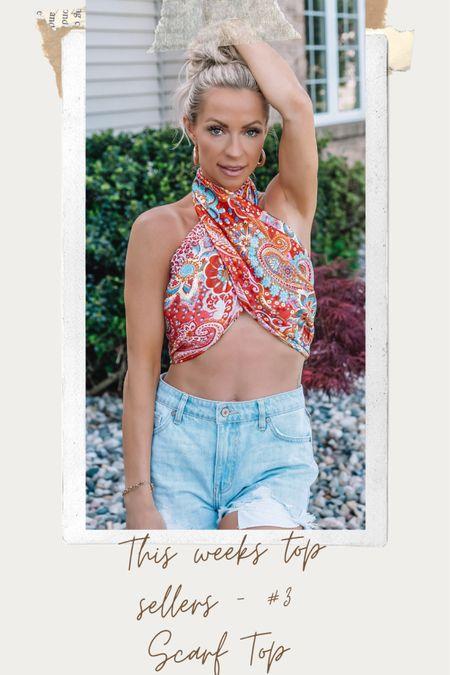 This weeks top sellers - #3 Scarf Top   http://liketk.it/3ggFw #liketkit @liketoknow.it #ltkseasonal