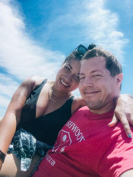 Mike and I's swim 👉🏼  #LTKSeasonal #LTKunder50 #LTKfamily