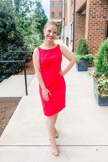 Sale alert! 🚨 this perfect sheath dress for work is on sale an extra 72% off making it $25!! Fits TTS on my hourglass shape with plenty of room at hips. Great for workwear, church, weddings, christenings or any special occasion! #LTKsalealert #LTKstyletip #LTKunder50 #liketkit @liketoknow.it http://liketk.it/2Tsa8