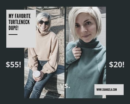 I'm totally obsessed with this turtleneck and found an amazing dupe for half the price at Target (lots of colors too!)   #StayHomeWithLTK #LTKunder50