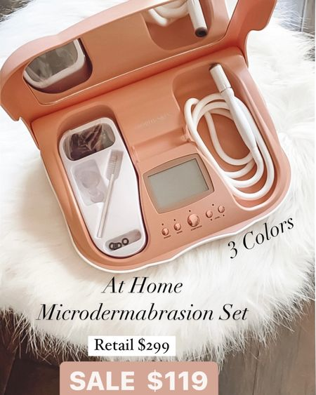 Best at home microdermabrasion system..just like an in office treatment   Reg $299 sale $119!!!  Code holiday saves you $10 if a new customer   * At-home results! -The MicrodermMD Sensitive Kit is a glow-getter designed using a high-tech combo of diamond exfoliation and suction to exfoliate the outer layers of skin. -MicrodermMD is one of the first at-home microdermabrasion machines using dual-action therapy with a combination of diamond-tipped exfoliation and suction, enabling you to have microdermabrasion treatments at home. -Buffs Away Fine Lines and Wrinkles. -Improves the appearance of Skin Tone and Texture. -Gently Exfoliates and Sloughs Away Dead Cells. -Restores Radiance to Skin for a youthful glow -Smooths and brightens the skin * Includes: * (1) MicrodermMD Microdermabrasion System * (1) Standard Diamond Tip * (1) Pore Extracting Tip * (1) Infusion Tip * (100) count wool flters * (1) Power Adapter   #LTKsalealert #LTKstyletip #LTKbeauty