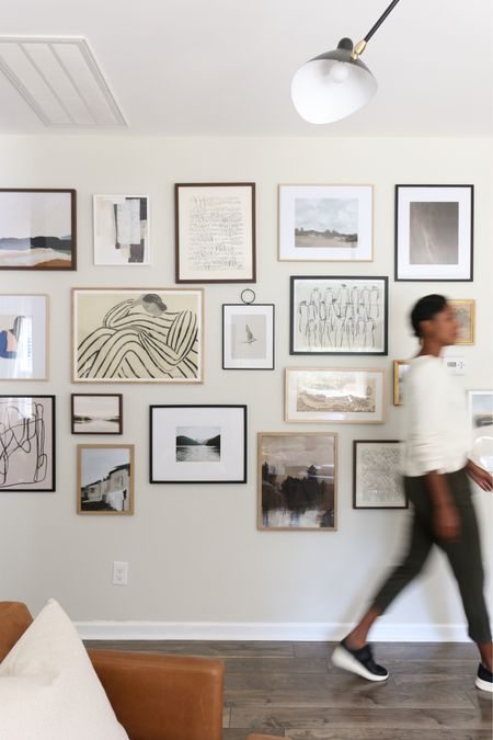 Vintage modern gallery wall! Affordable art, framed art, printable art  #LTKunder50 #LTKhome