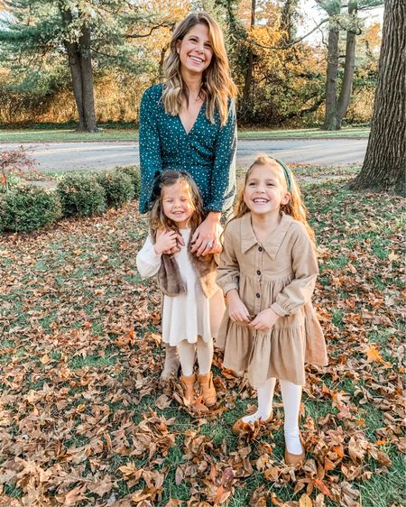 My girls ,  well 2/3 of them anyway ❤️ 😂 Finally got around to some holiday family photos today + after a few days of rain sun was shining and the fall leaves were really showing off, I cannot wait to see how they turned out! Hope everyone is enjoying their weekend! \\ http://liketk.it/319A2 @liketoknow.it #liketkit #LTKunder50 #LTKkids #LTKfamily