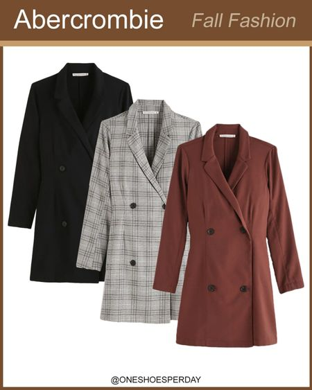 Abercrombie Fall Outfits  Blazers Dresses         http://liketk.it/3pRqQ @liketoknow.it #liketkit #LTKGiftGuide #LTKHoliday #LTKSeasonal #LTKsalealert #LTKtravel #LTKunder50 #LTKworkwear #LTKunder100 #LTKFall #LTKGifts | Travel Outfits | Teacher Outfits | Back to School | Casual Business | Fall Outfits | Fall Fashion | Pumpkins| Pumpkin | Booties | Boots | Bodysuits | Halloween | Shackets | Plaid Shirts | Plaid Jackets | Activewear | White Sneakers | Sweater Dress | Fall Dresses | Sweater Vests | Cardigans | Sweaters | Faux Leather Pants | Faux Leather Jackets | Coats | Fleece | Jackets | Bags | Handbags | Crossbody Bags | Tote | Wedding Guest Dresses | Gifting | Gift Guide | Gift Ideas | Gift for Her | Mother in Law Gifts |
