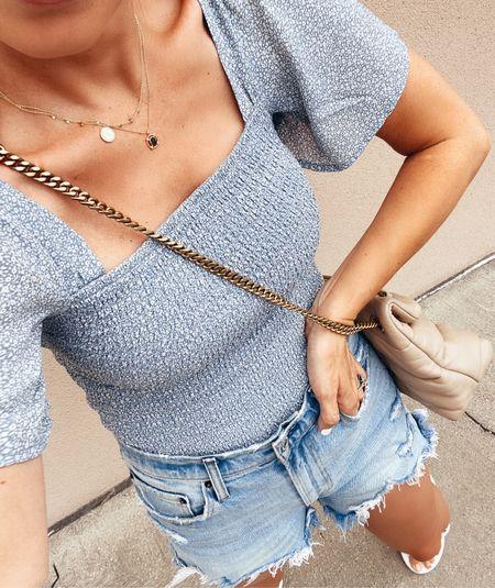 ltk day, abercrombie sale, summer outfit, jean shorts   #LTKDay #LTKsalealert