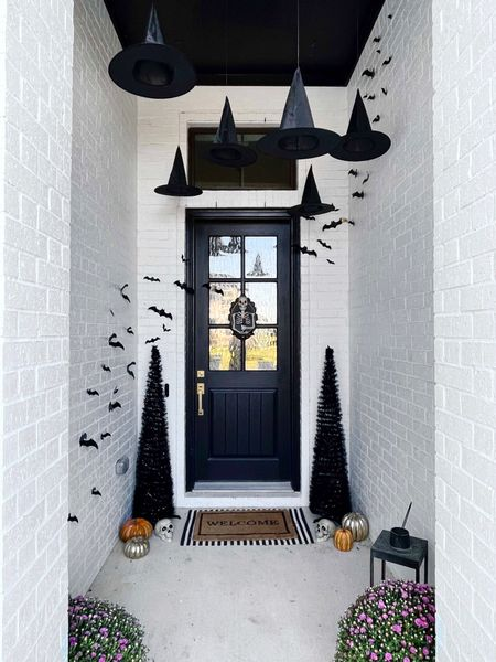 I love decorating for Halloween! I'm really excited about my front porch because I feel like it's cute and really fun! Most of it is from Amazon!  Amazon home, Amazon Finds, which's hat, Halloween decor, Halloween porch, front porch Decor, seasonal Decor, black trees, Halloween trees, Halloween bats, target home, target finds, Halloween wreath, Halloween target, skeleton, black Decor, white farmhouse,  #LTKhome #LTKstyletip #LTKSeasonal