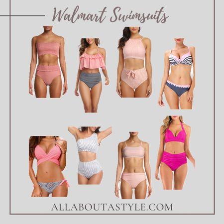 Walmart Swimsuits. #swimsuits #summet #summertime #vacation #travel @liketoknow.it #liketkit (enableimagetoviewlink) #LTKswim #LTKunder50 #LTKtravel