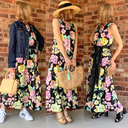 Here are 3 ways to wear one floral dress, for day, for the beach or pool and for evening.   #LTKunder50 #LTKstyletip #LTKSeasonal