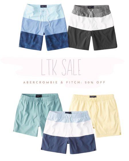 Abercrombie & Fitch men's swim - fun summer colors & patterns with different lengths. Use code LTKAF2021 to get 20% off ☀️ http://liketk.it/3hkO2 #liketkit @liketoknow.it #LTKmens #LTKsalealert #LTKDay