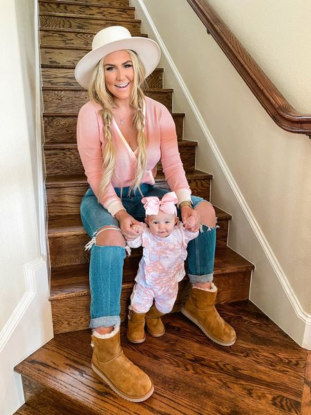 Just two girls waiting on fall to hit Texas like 😍😍😍 Y'all, I cannot get over how cute these matching mama & mini booties that @Koolaburra by Ugg's release for fall/winter! Obsessed with the full collection currently at @DSW and now and trying to figure out our next pair! 🙌🏻Swipe to see a close of of the bow detail! #MyDSW #ad    #LTKshoecrush #LTKbaby #LTKfamily