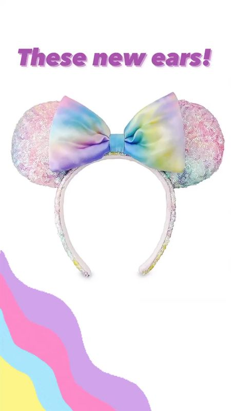 ShopDisney NEW pastel tie dye sequin Minnie Mouse ears! Perfect for a spring Disney vacation. These ears are gorgeous! #disneyoutfit #disneyvacation #minniemouseears  #LTKstyletip #LTKtravel #LTKunder50
