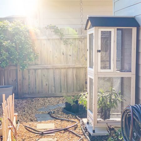 Bird house converted into a butterfly house 🦋🦋🦋 East to build kit + added window screen around each door to keep the 🐛🐛🐛 safe!! http://liketk.it/3dGC4 #liketkit @liketoknow.it