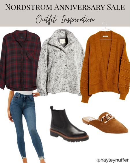Fall Outfit inspiration from the Nordstrom sale  Nsale, plaid, Chelsea boot, mule, good American jeans    #LTKtravel #LTKSeasonal #LTKsalealert