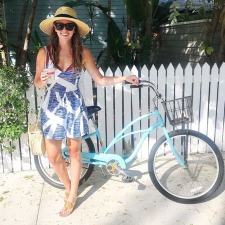 Weekend mode of transportation 🚲 missing sunsets, living in bikinis, and not wearing makeup 😎 this romper was perfect to throw on and it's only $19! // Shop my daily looks by following me on the @liketoknow.it app http://liketk.it/2wMfn #liketkit #LTKunder50 #LTKstyletip #LTKitbag #amazonfashion #keywest #southernanchors #dcblogger #weekendwear