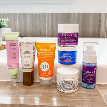 Travel skincare routine / eye cream / moisturizer/ face sunscreen / bronzing drops / firming serum   #LTKbeauty #LTKunder100 #LTKtravel