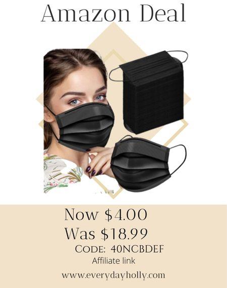 AMAZON deal! Only $4 for 100 face masks!  40% off Code: 40NCBDEF    #LTKfamily #LTKsalealert #LTKunder50