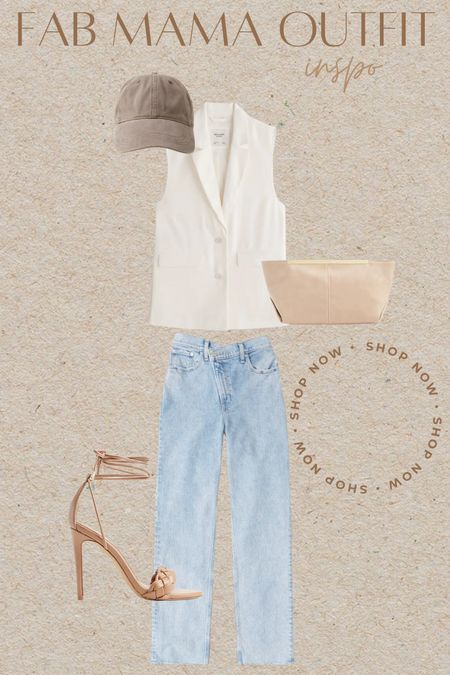 LTK sale Mom jeans Blazer vest  On the go Straight leg denim    #LTKstyletip #LTKsalealert #LTKSale