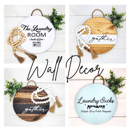 Who doesn't love some cute custom wall decor signs? For your laundry room decor, front door, mantel, or wall, these signs are handmade and affordable! http://liketk.it/39sFH @liketoknow.it #liketkit #LTKSeasonal #LTKunder50 #LTKhome @liketoknow.it.home @liketoknow.it.family Screenshot or 'like' this pic to shop the product details from the LIKEtoKNOW.it app, available now from the App Store!