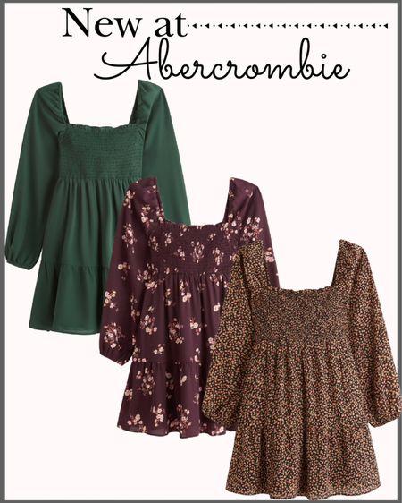 New arrivals at Abercrombie! 🍁  Fall dresses Midi dress Smocked dress Fall fashion Abercrombie dress Floral dress Family photos dress Family photos outfit  #LTKunder100 #LTKsalealert #LTKstyletip