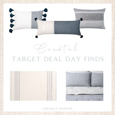 Target Deal Days is running through tomorrow (Tue, 10/12) and there are some fantastic prices on pieces for the home, including these throw pillows, 5x7 area rug and striped quilt (king size only) and sham set.  - Target deal days, Target home, Target finds, Target decor, Target home decor, Target pillows, blue and white pillows, blue & white pillows, blue and white lumbar pillows, 7x7 rugs, neutral rugs, coastal rugs, coastal throw pillows, coastal bedding, quilt set, striped quilt, blue and white bedding, king bedding set, king size quilt, home decor, decor under 50, home decor under $50, coastal decor, beach house decor, beach decor, beach style, coastal home, coastal home decor, coastal decorating, coastal interiors, coastal house decor, home accessories decor, coastal accessories, beach style, blue and white home, blue and white decor, neutral home decor, neutral home, natural home decor  #LTKhome #LTKsalealert #LTKunder100