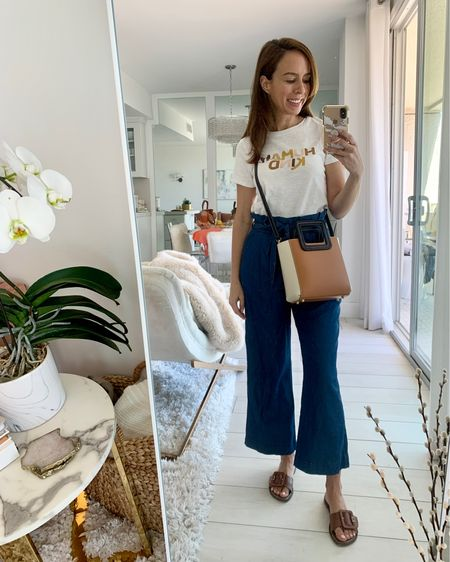 Staying comfy in a graphic tee (only $8) and paperbag waist pants for a mini road trip. Ps. These sandals are the comfiest ever! Run tts http://liketk.it/3iqFb #liketkit @liketoknow.it #ootd #casualstyle