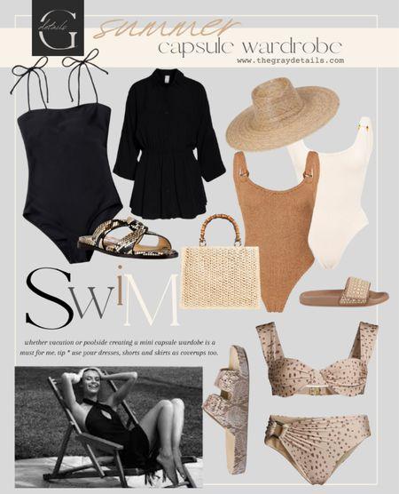 Summer swim capsule wardrobe / lack of color / hunza g / summer sandals   #LTKstyletip #LTKswim #LTKtravel