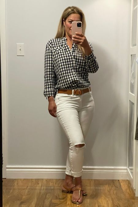 White skinny jeans  Gingham shirt   http://liketk.it/3jWaA #liketkit @liketoknow.it #LTKstyletip Shop your screenshot of this pic with the LIKEtoKNOW.it shopping app Shop my daily looks by following me on the LIKEtoKNOW.it shopping app Download the LIKEtoKNOW.it shopping app to shop this pic via screenshot You can instantly shop my looks by following me on the LIKEtoKNOW.it shopping app