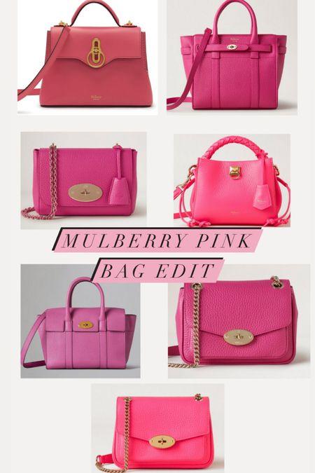 @liketoknow.it #liketkit http://liketk.it/3goi3 mulberry pink leather bag edit, geranium pink Seaton, Lily, Alexa