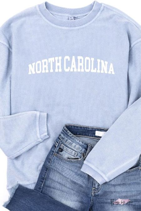 Love this state corded sweatshirt. All states are available!!   #LTKstyletip #LTKSeasonal #LTKunder100