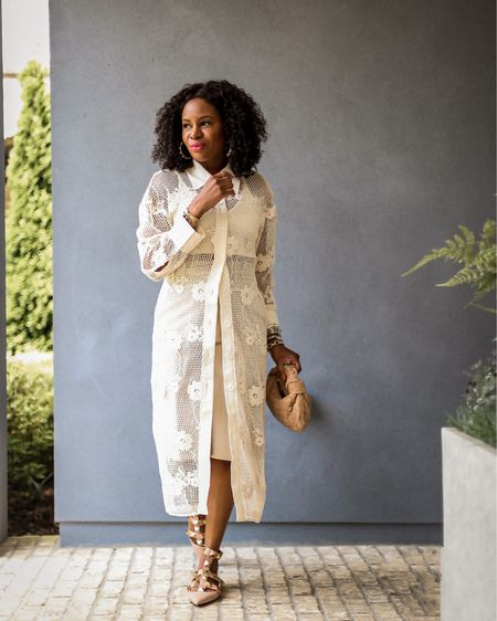 """I got travel on the brain y'all! All I can think about is putting my feet into warm sand and going to dinner at the resort restaurant over looking the ocean (literally day dreaming as I write this lol). Anywho, today's new Zara haul is live and it features 8 stylish vacation outfits including this fabulous monochromatic outfit. Head over to my channel (link in bio) to see this look in motion and all the amazing goodies I picked up from Zara.   Who else has a case of vacation on the brain while working lol?  Shop this outfit on awedbymonica.com on the """"shop my Instagram"""" page   #LTKstyletip #LTKunder100"""
