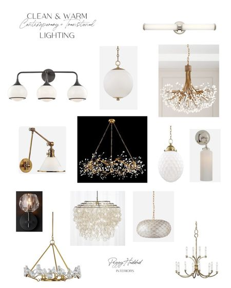 Whole House Lighting Plan Contemporary + Glam + Transitional brass chandeliers brass pendants polished nickel sconces http://liketk.it/2UBS3 #liketkit @liketoknow.it #StayHomeWithLTK #LTKhome @liketoknow.it.home