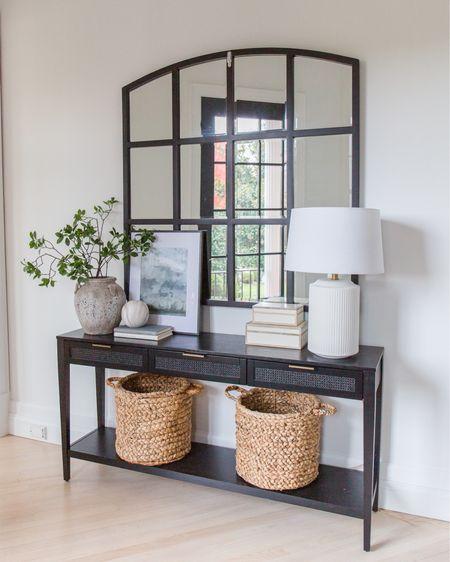 Entryway, foyer, console table, studio McGee, Amazon, target, Ballard design, mirror, lamp   http://liketk.it/3hcMB #liketkit @liketoknow.it #LTKstyletip #LTKsalealert #LTKhome @liketoknow.it.home