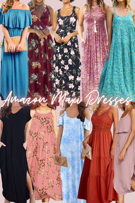 Amazon, summer, beach, vacation, maxi dresses, midi dresses, Amazon prime, affordable, cute, wedding guest, floral, tie dye, lace, tiered   #LTKunder50 #LTKtravel #LTKstyletip
