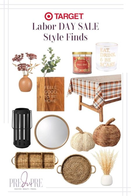 Enjoy your Labor Day weekend with some great sale finds. Read more about it at my blog, www.predupre.com  http://liketk.it/3n4xK  Faux greenery, candle, tumble, Halloween, lantern, tablecloth, table, trays, round mirror, pumpkin decor, fall decor, fall season, fall staples, fall looks, fall shoes   #LTKSeasonal #LTKsalealert #LTKstyletip