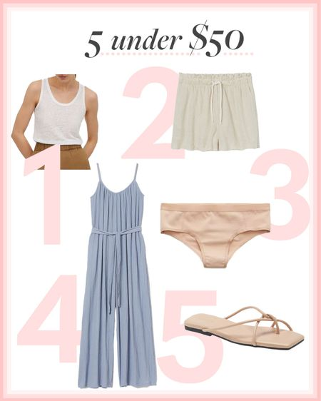 Jumpsuit, seamless undies, white tank, beige sandals 🤍 http://liketk.it/3h7zs #liketkit @liketoknow.it #LTKunder50 #LTKshoecrush
