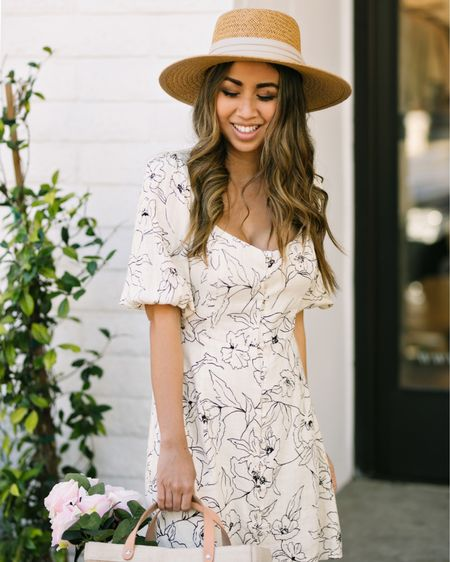 Can't wait for days when I have somewhere to go to dress this cute. Spring is my favorite season so can we please have it back when this is all over?! 🙏😭   P.S. my dress is 25% off - I'm wearing a small but I had it taken in to fit me better. Follow me and shop my look on @liketoknow.it http://liketk.it/2M9Hh #liketkit