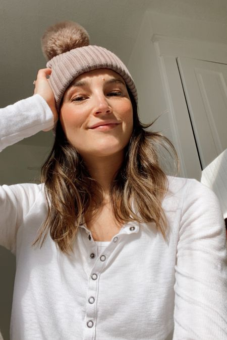 My toque is on sale today. Love this ribbed Henley, it's so soft. I have it in a few colours now because I found myself reaching for it so often. http://liketk.it/39F2M #liketkit @liketoknow.it #LTKunder50
