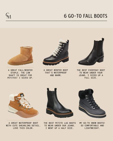 6 go-to fall boots. Own and love all of these boots. They work great in the winter as well.  #LTKSeasonal #LTKshoecrush