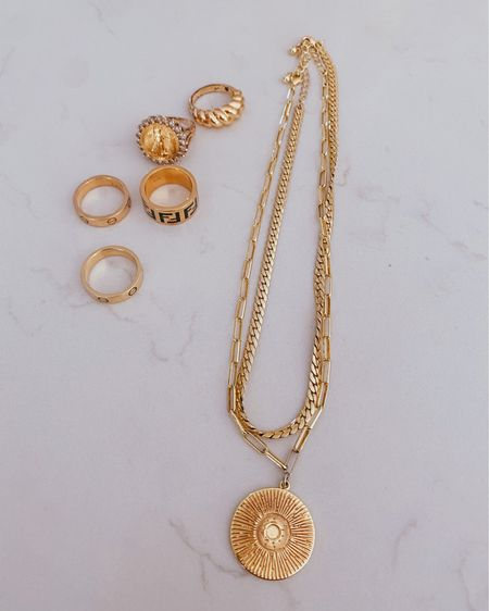 Gold jewelry  Gold coin necklace  Amazon rings  Fendi ring Uncommon James Gifts for her   @liketoknow.it http://liketk.it/3hiO6 #liketkit #LTKunder50 #LTKunder100 #LTKstyletip
