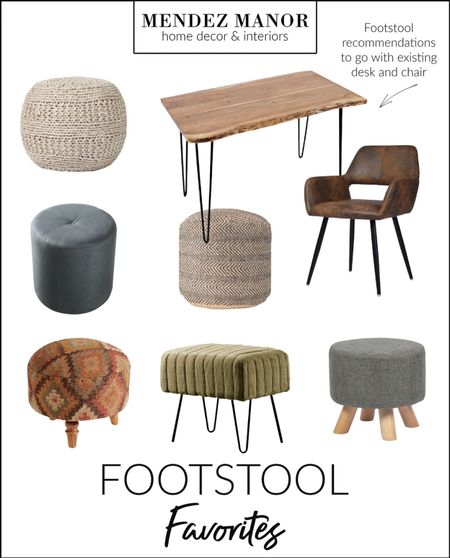 We love giving our clients options that work! Here's a collection of footstools for our online clients to choose from. You might find one that works for you too! 🤗   #LTKhome