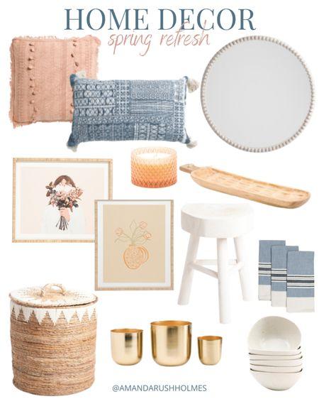 Spring home decor from Marshall's | master bedroom | living room | studio McGee inspired | coastal home decor | neutral.   #LTKsalealert #LTKhome #LTKunder100