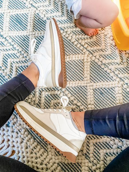 Love these madewell neutral colorblock sneakers!  Perfect for athleisure days    #LTKunder100 #LTKstyletip #LTKshoecrush