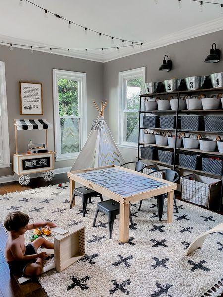 Neutral modern playroom decor on a budget   #LTKhome #LTKkids #LTKfamily