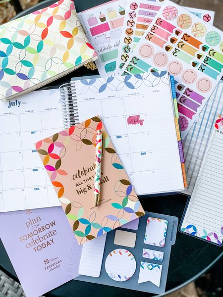 Ready to get organized this summer with my new Erin Condren planner and accessories! So so pretty!!   Organization. Planner. Summer agenda. Agenda.   #LTKunder50 #LTKsalealert #LTKhome