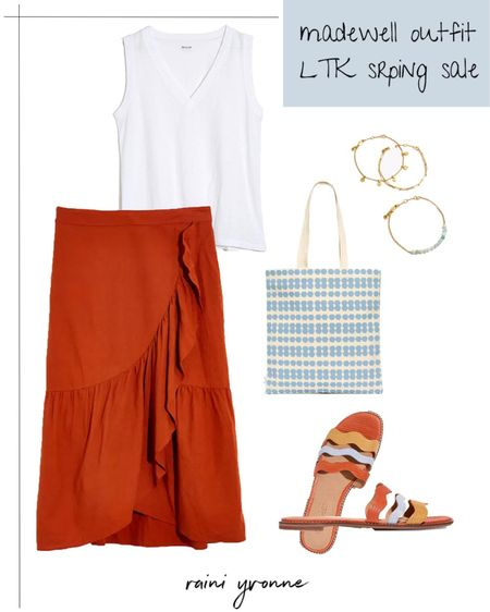 Madewell Outfit LTK Spring Sale  http://liketk.it/3cubB @liketoknow.it #liketkit   #LTKSpringSale #LTKsalealert #LTKunder100  Madewell, Summer Fashion, Spring Fashion, Summer Dress, Summer Outfit, Spring Outfit, Wedding Guest Dress, Wedding Guest Outfit, Skirt Outfit, Maxi Dress, Midi Dress, Sandals, Jewelry, Slip Ons, Sale