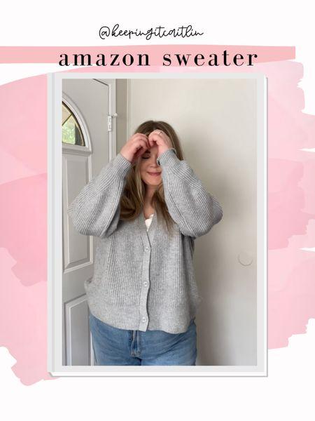 Amazon cardigan. Super cozy! Wearing xxl    #LTKcurves #LTKSeasonal #LTKunder50